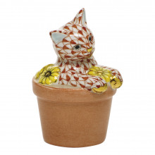 """Shaded Vh Flower Pot Kitty 1.75""""L X 1.5""""W X 2.5""""H 