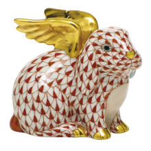 """Shaded Vh Angel Bunny 2.25""""L X 1.75""""W X 2.5""""H 