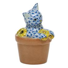 "Shaded Vhb Flower Pot Kitty 1.75""L X 1.5""W X 2.5""H | Gracious Style"