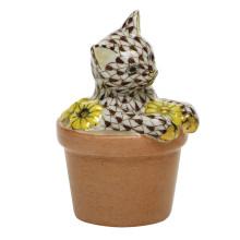 "Shaded Vhbr2 Flower Pot Kitty 1.75""L X 1.5""W X 2.5""H | Gracious Style"