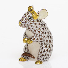 Shaded Vhbr2 Mouse With Bow 2 in. l X 1.5 in. w X 2.5 in. h | Gracious Style