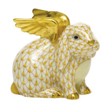 """Shaded Vhj Angel Bunny 2.25""""L X 1.75""""W X 2.5""""H 