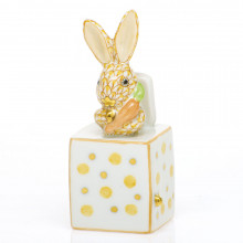 Shaded Vhj Jack In The Box Bunny 1 in. l X 1 in. w X 2.75 in. h | Gracious Style