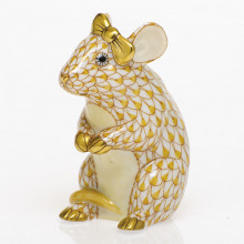 Shaded Vhj Mouse With Bow 2 in. l X 1.5 in. w X 2.5 in. h | Gracious Style
