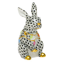 Shaded Vhnm Bunny With Christmas Lights 2 in. l X 1.75 in. w X 3.5 in. h | Gracious Style