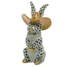 "Shaded Vhnm Cowboy Bunny 2""L X 2""W X 3.5""H | Gracious Style"