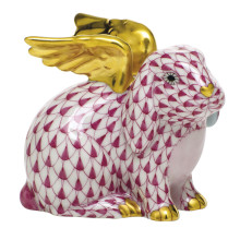 """Shaded Vhp Angel Bunny 2.25""""L X 1.75""""W X 2.5""""H 