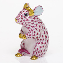 Shaded Vhp Mouse With Bow 2 in. l X 1.5 in. w X 2.5 in. h | Gracious Style