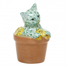 """Shaded Vhv Flower Pot Kitty 1.75""""L X 1.5""""W X 2.5""""H 