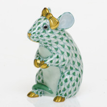 Shaded Vhv Mouse With Bow 2 in. l X 1.5 in. w X 2.5 in. h | Gracious Style