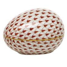 "Fishnet Rust Large Egg 3""L X 2.25""W X 2""H | Gracious Style"