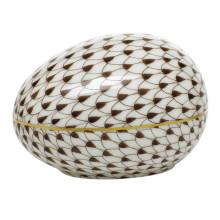 "Fishnet Chocolate Large Egg 3""L X 2.25""W X 2""H | Gracious Style"
