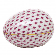 "Fishnet Raspberry (Pink) Large Egg 3""L X 2.25""W X 2""H | Gracious Style"