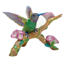 Vhs142 Hummingbird On Flowered Branch 8.25 in. l X 7.75 in. w X 5.75 in. h | Gracious Style