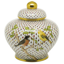 """Vhsp18 Songbird Ginger Jar 8.5""""H X 9""""D (Special Order) 