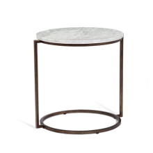 Halo End Table - Carrera White | Gracious Style