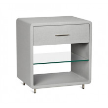 Alma Bedside Chest - Light Grey | Gracious Style