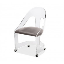 Romy Acrylic Chair - Nickel