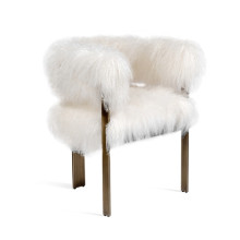Darcy Chair - Ivory Sheepskin | Gracious Style