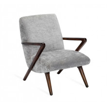 Florin Lounge Chair - Grey | Gracious Style