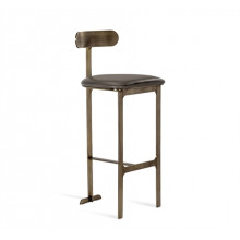 Hollis Bar Stool - Grey/ Bronze | Gracious Style
