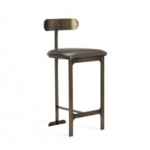 Hollis Counter Stool - Grey/ Bronze | Gracious Style