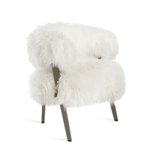 Adele Lounge Chair - Ivory Sheepskin | Gracious Style