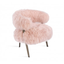 Adele Lounge Chair - Blush Sheepskin | Gracious Style