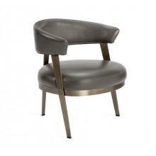 Adele Lounge Chair - Grey | Gracious Style
