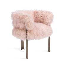 Darcy Chair - Blush Sheepskin | Gracious Style