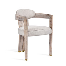 Maryl II Dining Chair - Cream Linen | Gracious Style