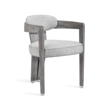 Maryl II Dining Chair - Grey Linen | Gracious Style