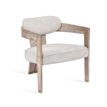 Maryl II Lounge Chair - Cream Linen | Gracious Style