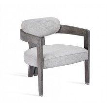 Maryl II Lounge Chair - Grey Linen | Gracious Style