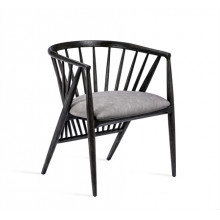 Lilou Dining Chair - Charcoal | Gracious Style
