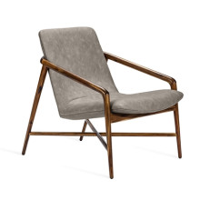 Benoit Lounge Chair - Taupe | Gracious Style