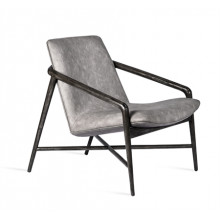 Benoit Lounge Chair - Charcoal | Gracious Style