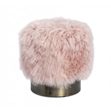 Doutzen Stool - Blush Sheepskin | Gracious Style