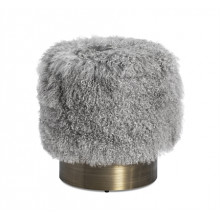 Doutzen Stool - Grey Sheepskin | Gracious Style