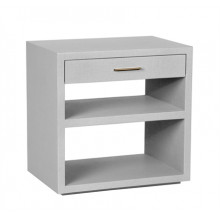 Livia Bedside Chest - Light Grey | Gracious Style