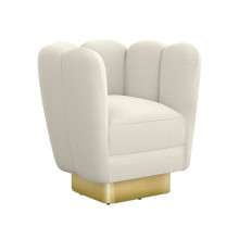 Gallery Brass Swivel Chair - Pearl | Gracious Style