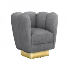 Gallery Brass Swivel Chair - Night | Gracious Style