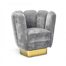 Gallery Brass Swivel Chair - Granite | Gracious Style
