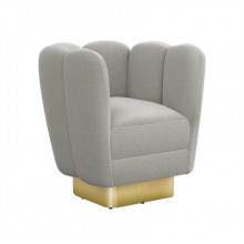Gallery Brass Swivel Chair - Grey | Gracious Style
