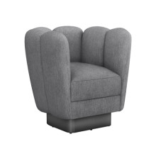 Gallery Gunmetal Swivel Chair - Night | Gracious Style