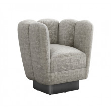 Gallery Gunmetal Swivel Chair - Feather | Gracious Style