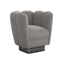 Gallery Gunmetal Swivel Chair - Granite | Gracious Style