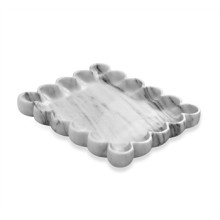 Bliss Scalloped Tray - Arabescato | Gracious Style