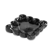 Bliss Square Scalloped Tray - Black | Gracious Style