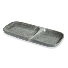 Harlow Dual Section Tray - Gray | Gracious Style